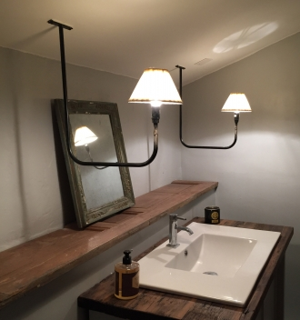 Custom basin lights, Homps France