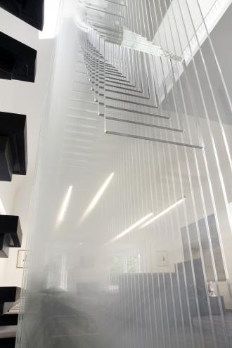 Custom acrylic stair wall